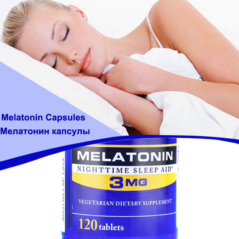 High Quality Sleeping Melatonin 3mg 120 Capsules-in Massage & Relaxation from Beauty & Health