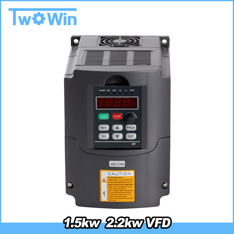 Vfd 110v 2 2kw 3hp Variable Frequency Cnc Motor Drive Inverter Converter For Spindle Speed Control