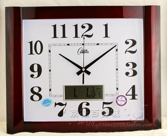 Quality Calendar Big Wall Clock Classic LCD Perpetual Calendar Watch Chinese Style Quieten Pocket Watch Clock