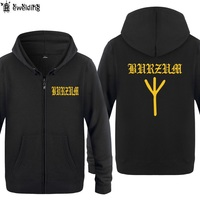 Zipper Hoodies Men Black Metal Burzum Rune Mens Hoodie Music Hip Hop Fleece Long Sleeve Men's Jacket Sweatshirt Oversized Coat
