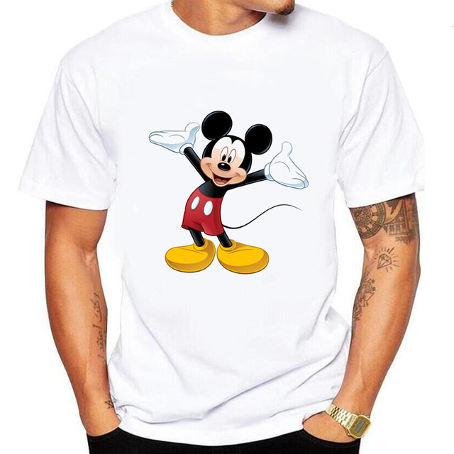 Fashion women   T     Shirt   Men Funny Mickey   t  -  shirts   men Mouse Animal Print   T  -  shirt   Short Sleeve   T     Shirts   Tee Shrits Casual Cool Tops