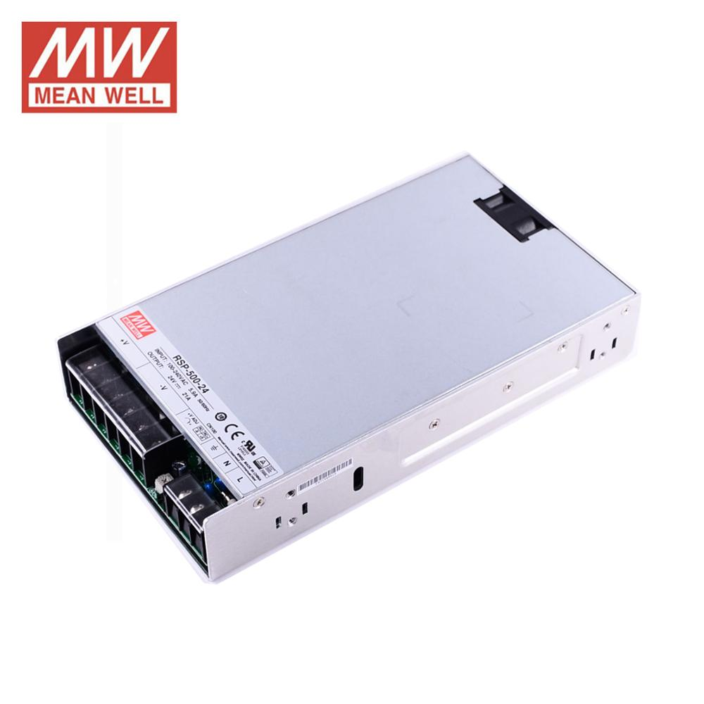 Meanwell RSP-500W PFC laboratoire alimentation 24 V 12 V 5 V 15 V 500 W commutation alimentation pilote pour LED bande 27 V 3.3 V 48 V DC UL