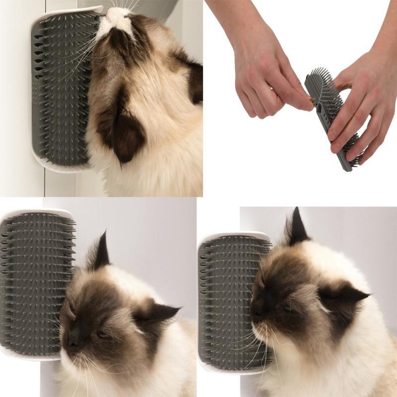 Furniture Wall Angle Cat Face Tickling Massage Catnip Brush Comb Cat Scratch Board Scratchers Scratching Post Cat Grooming Pet