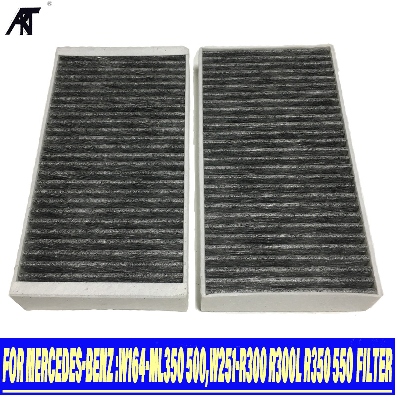 Filtros de polen Filtro de carbón activado set 2 x filtro mercedes gl-Klasse x164 clase m w164 w251 v251 Motor: piezas y accesorios