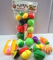 Cut fruit toys children of fruits and vegetables and joy Earnestly read every kitchen toys