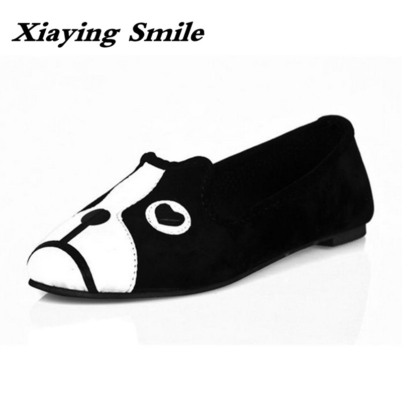 Xiaying Smile Flats Shoes Women Boat Shoes Spring Summer Office Casual Loafers Slip On Falt Soled Shallow Rubber Women Shoes xiaying smile summer new woman sandals casual fashion shoes women zip fringe flats cover heel consice style rubber student shoes
