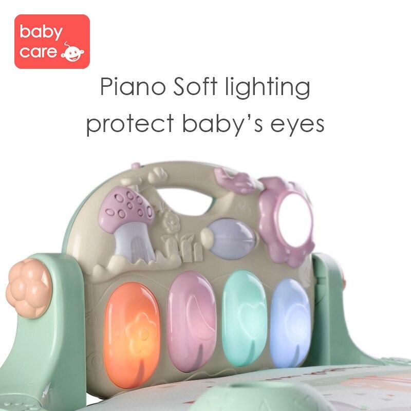 Tapis de jeu pour bébé cadre de Fitness pour bébé Piano à pied enfant ramper musique jouer jeu développement Pad bébé néonatal jouet de musique intellectuelle - 4