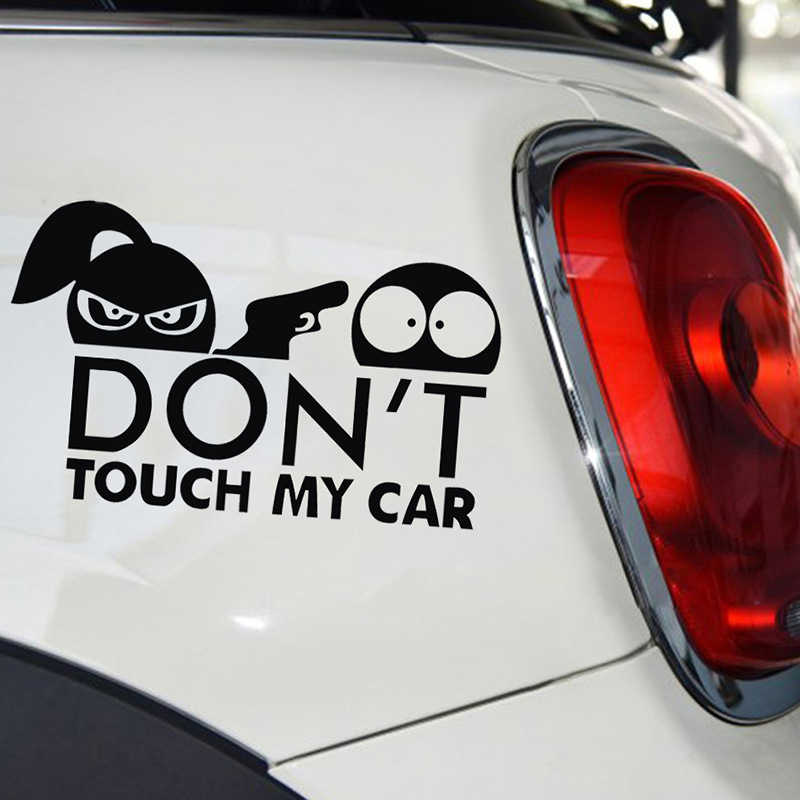 15*9cm Warning Car Sticker Funny Do Not Touch My Car Body Decal Auto Accessories
