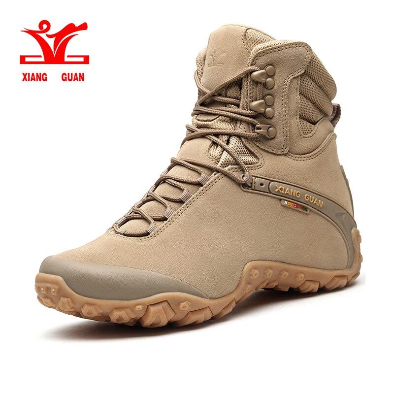 Xiang Guan Sports Tactical Men Boots New Wear-Resistant Camping Sneakers Black Climbing Waterproof Boots Women Hiking Footwear цена