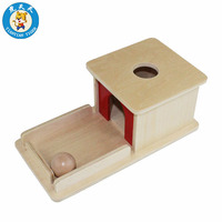Baby Montessori Toys Infant Toddler Wooden Learning Teaching Supplies Object Permanence Box With Tray