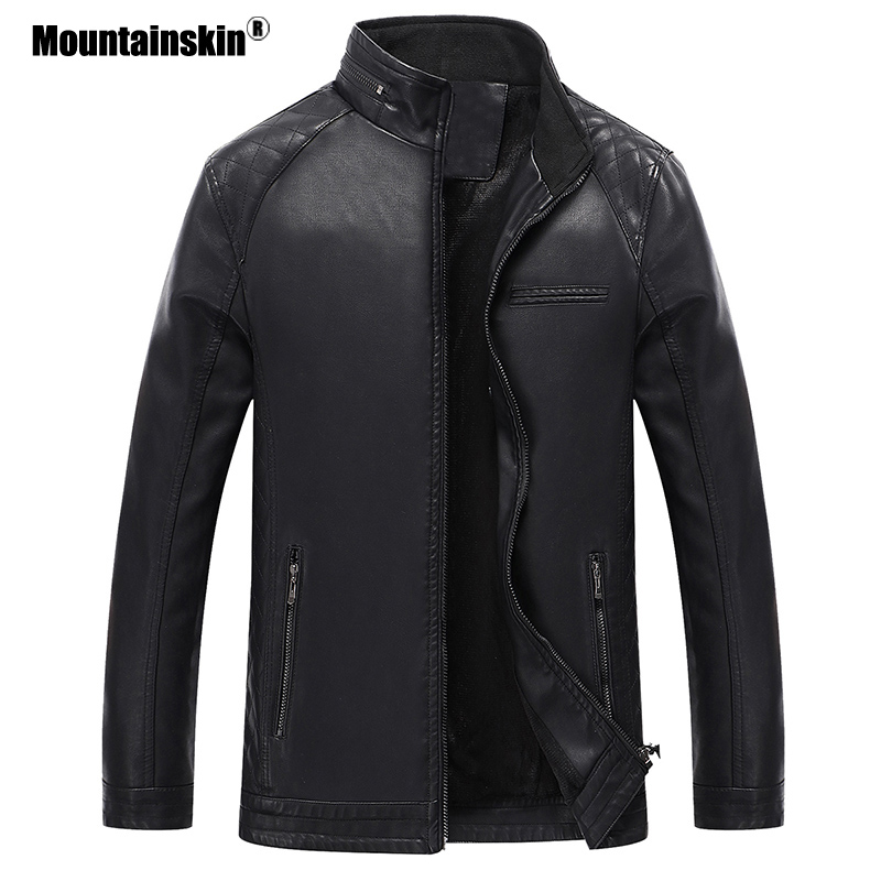 Mens Leather Jacket Brand High Quality Outerwear 2