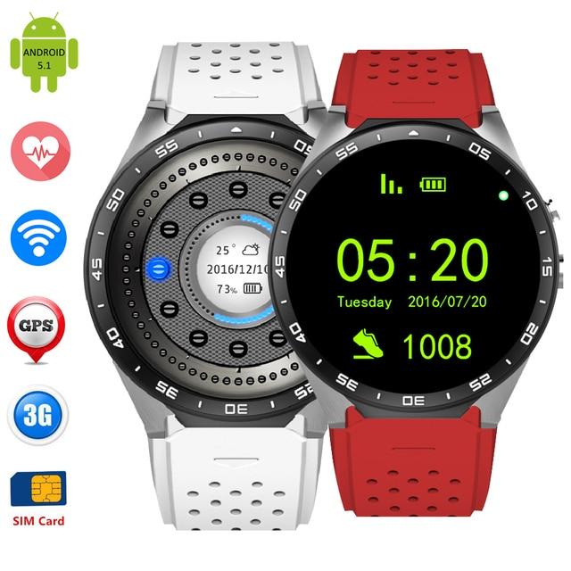 Мода Смарт-Наручные Часы Android 5.1 KW88 Наручные Часы Сердечного Ритма GPS/WCDMA/Wi-Fi Anti-потерянный Пульт Дистанционного Управления Интеллектуальный часы BT4.0