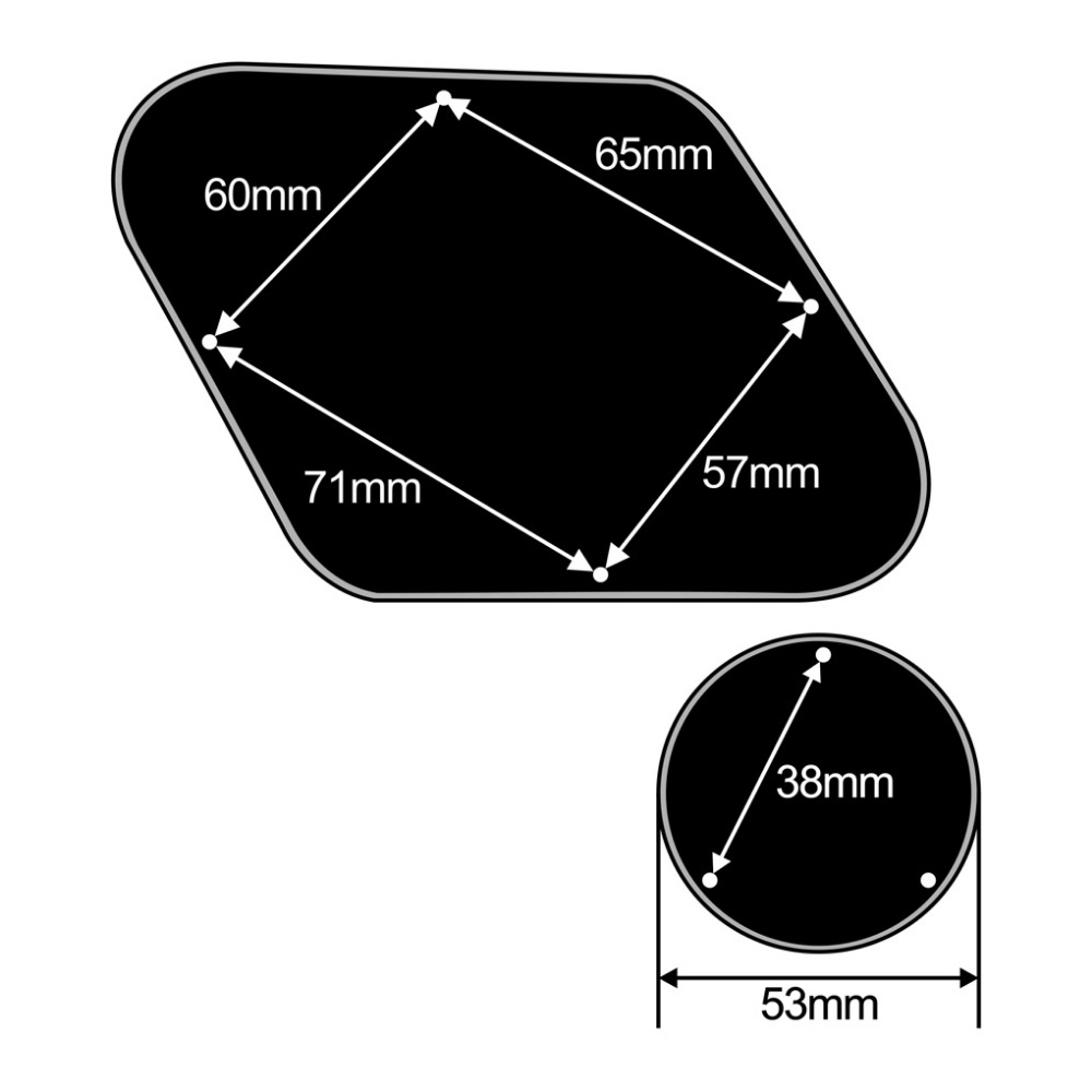 10 teile paket 4mm Kunststoff 5-wege Schalter Knöpfe Tip Caps Beige für