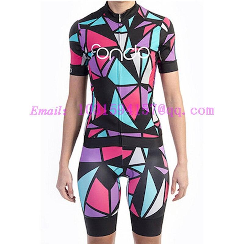 fondo women cycling jersey 2019 custom clothing suit female aero downhill maillot  bike gear set tops 339df87c4
