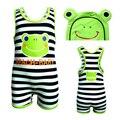 Bebé del traje de baño de una sola pieza con rayas carácter del bebé del casquillo infantil niño traje de baño trajes de baño para niños bebés y niños ropa de playa 1-6Y