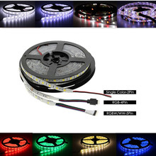 12V 24V LED Light Strip SMD 5050 RGB RGBW RGBWW Waterproof 60Led/s 5 M 12 24 V Volt LED Strip Lights Lamp Ribbon TV Backlight(China)