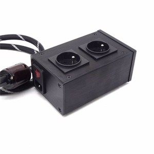 Image 4 - AC8.8 2500W 10A European filter power outlet Advanced Audio Power Purifier Filter AC Power Socket for EU AC Electrical Plug