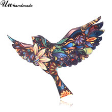Fashion Brooch Acrylic Bird Brooches for Women Lapel Pin Hijab Pins Broches Broche Accessories Christmas Gifts Kids Jewelry 2018(China)