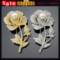 12pcs Wholesale Full Rhinestone Flower Large Wedding Brooches,Crystal Rose Brooch Pins,Scarf Accessories Collar Clip Jewelry