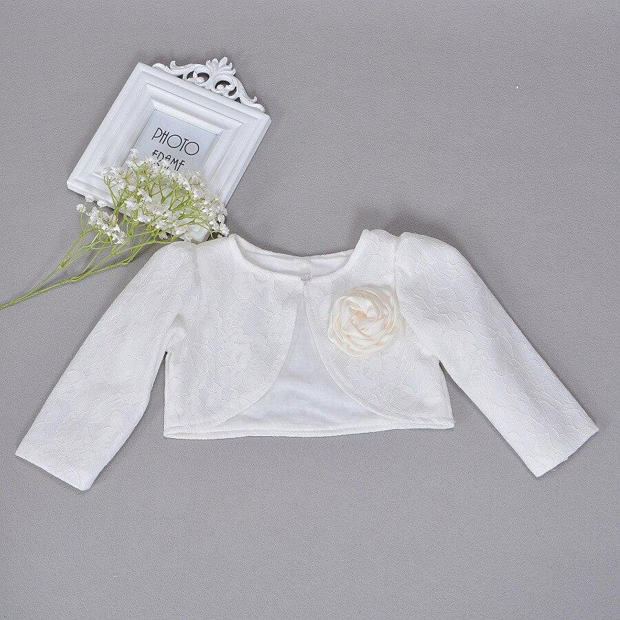 e796e2eda4f4 Newbron Children Dress Shawl Ivory Coat Girls Long Sleeved Lace Baby ...