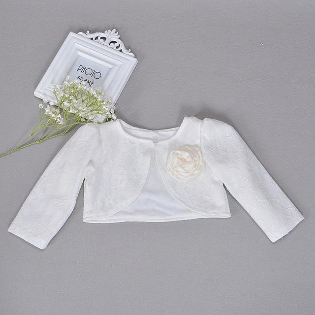 a1c5d630f Newbron niños vestido chal marfil abrigo niñas de manga larga de encaje de bebé  bautismo infantil