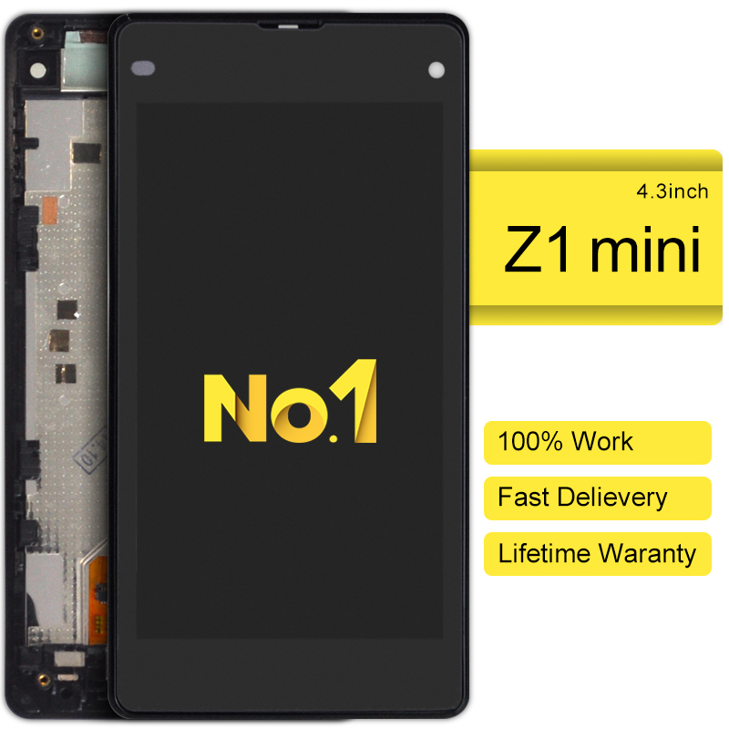 2pcs alibaba china highscreen clone LCD Screen For sony Xperia z1 mini d5503 With Touch display Digitizer frame Assembly alibaba china 2 pcs black white lcd display touch screen digitizer without frame assembly for sony xperia z3 mini free shipping