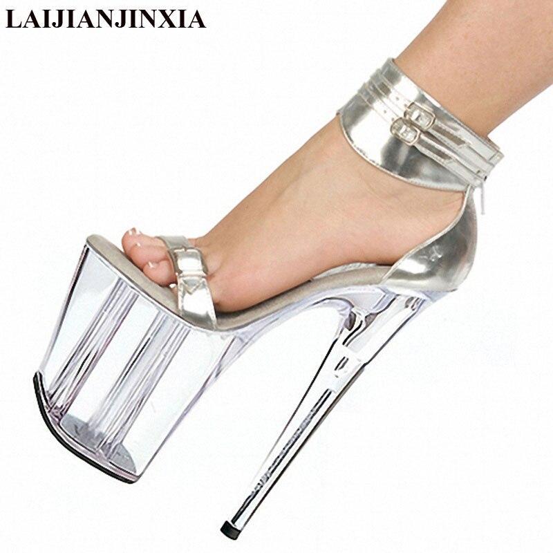 Femmes 8 Laijianjinxia Argent forme Chaussures Chaud Transparent Mariage Talons Sandales Mince E204 De vente Plate Cristal Pouce D'été e097 2016 Rr0pntrqw
