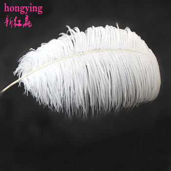 50pcs white south african ostrich feathers  high quality feather wedding props 45-50cm 18-20inches