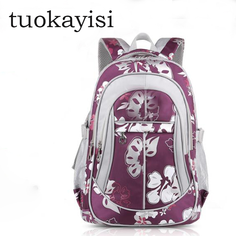 Fashion teenager School orthopedic backpack 1 6 grade School backpack girls New quality Children s Pink