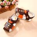 Cuero genuino casual zapatos de bebé suaves del bebé todder zapatos niños zapatos transpirables de luz led bebé toddler primeros caminante