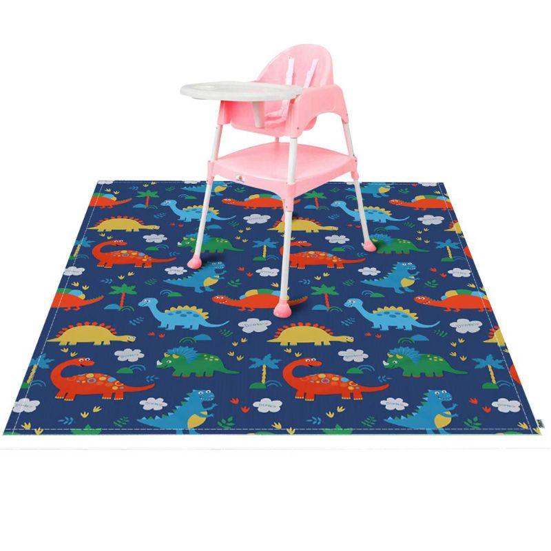 Highchair Splash Mat Baby Paint Splash Mat Large Protective Floor Splash Mat Waterproof and Anti Slip 140cmX140cm