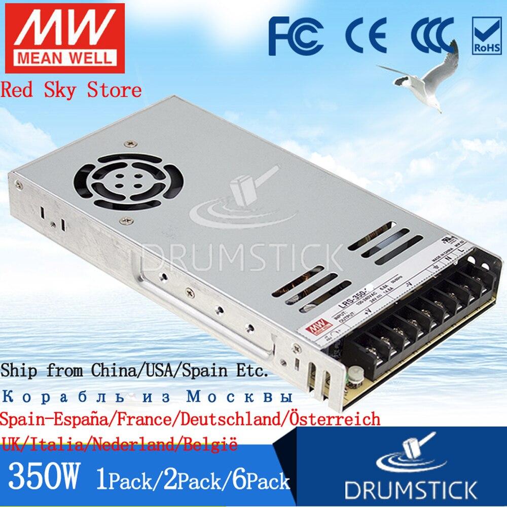 (1 pacote) meanwell 350 w fonte de alimentação LRS-350-24V 5 v 12 v 15 v 36 48 v 5a 15a 29a 60a dc display led monitor de tira de luz nes