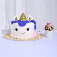 Slow Rising New Kawaii Ice Cream Jumbo Cake Squishy Toys For Children Slow Rising Toys Antistress Decor Cake Squishies Food 5.14