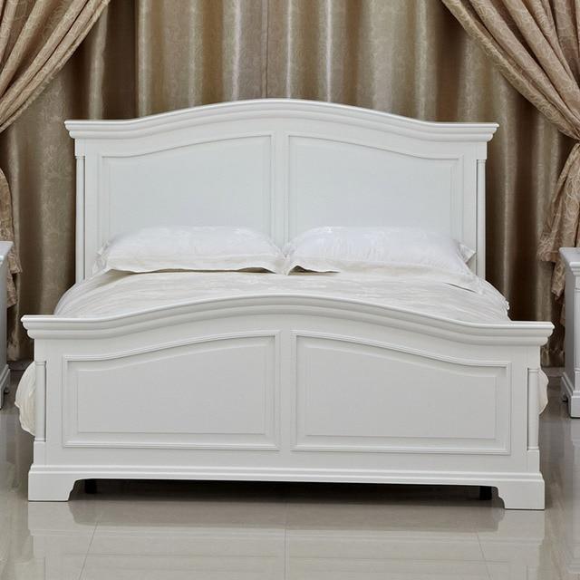 Sencillo estilo mediterráneo jardín cama de madera maciza cama de ...