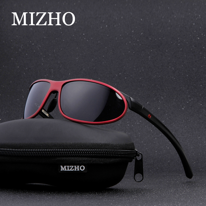 MIZHO antideslumbrante Clear Drivers Car Snow Sunglass Mujer Polaroid UV400 Night Ladies Gafas de sol de los hombres de aluminio polarizado Wrap