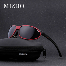MIZHO Anti glare Clear Drivers Car Snow Sunglass Female Polaroid UV400 Night Ladies Sunglasses Men Polarized Aluminium Wrap