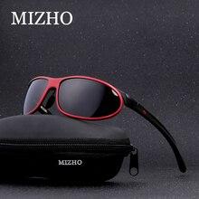 Mizho Anti Glare Clear Drivers Auto Sneeuw Sunglass Vrouwelijke Polaroid UV400 Night Dames Zonnebril Mannen Gepolariseerde Aluminium Wrap