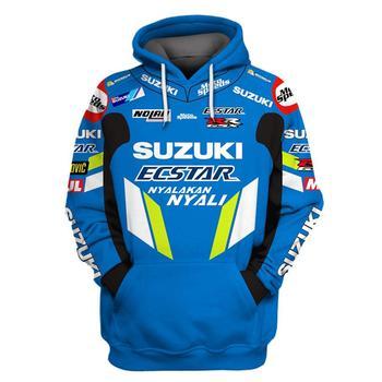 2019 Moto à capuche pour Suzuki imprimé broderie Auto Logo sweat à capuche veste manteau RR GSXR GXS Moto vêtements