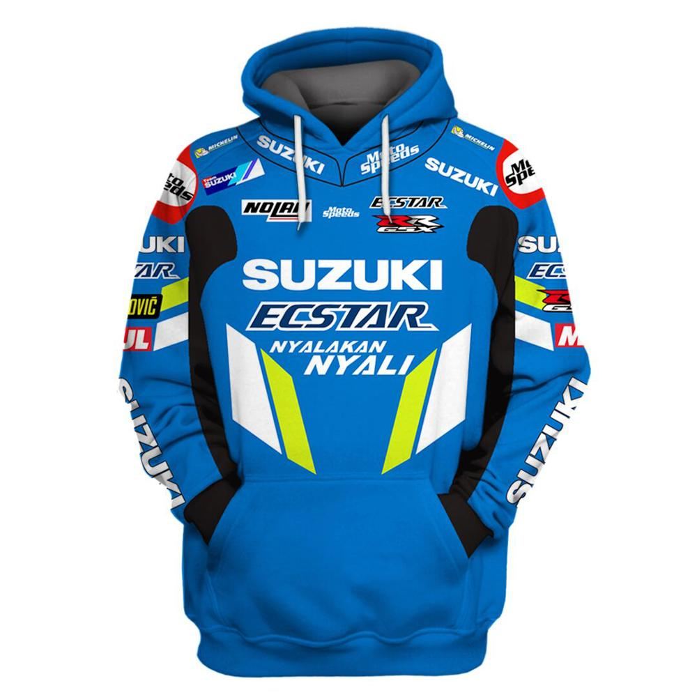 2019 motorcycle hoodie for suzuki printed embroidery