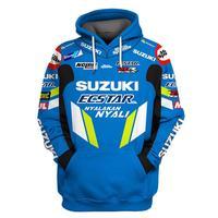 2019 Motorcycle Hoodie For Suzuki Printed Embroidery Auto Logo Sweatshirt Hooded Jacket Coat RR GSXR GXS Moto Clothing