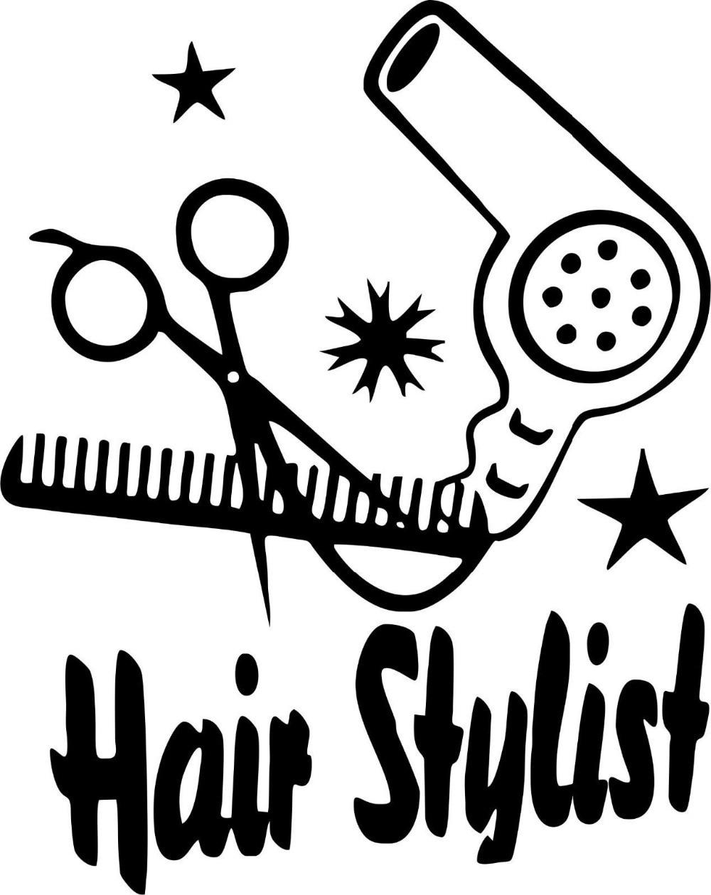 Download Hair Salon Vinyl Decal Hair Dryer Comb Scciors Design Hair ...