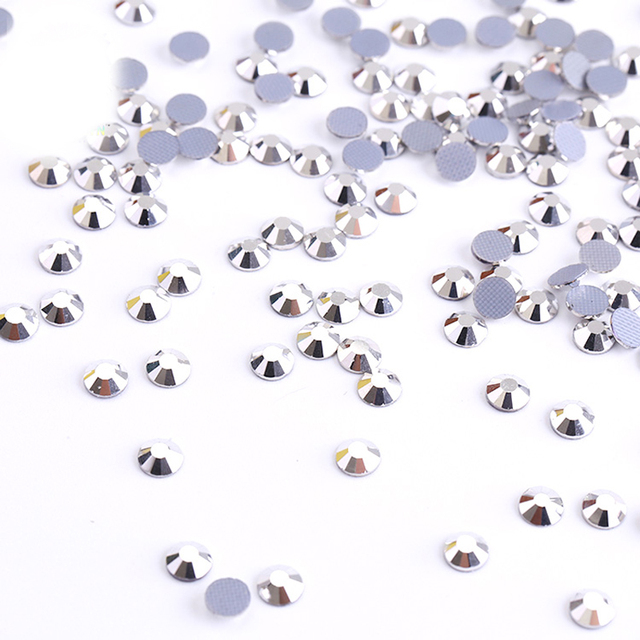 Crystal Hotfix Rhinestones for Clothes Best Shiny Strass Hotfix Clear White  Stones and Crystals Rhinestone DIY Silver Trim 8fafdea6d0b8