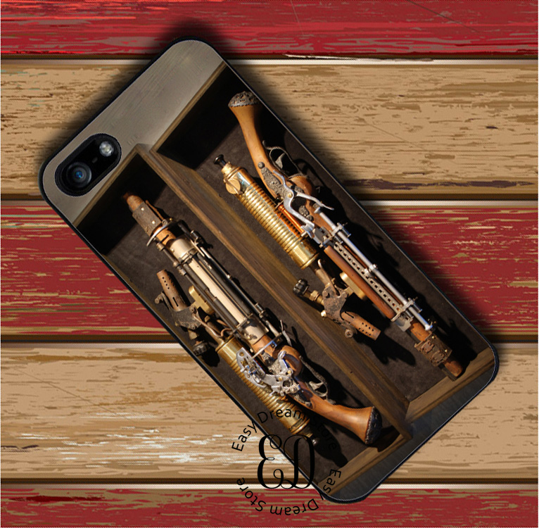 The Steampunk Machine Gun Case For Iphone 11 Pro X Xr Xs Max 6 7 8 11 Plus Samsung S10 E S7 S8 S9 Plus Note 8 9 10