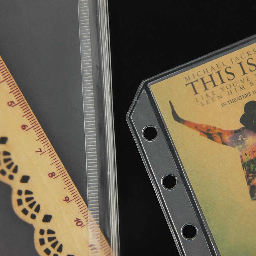 3 PCS שקוף PVC אחסון כרטיס תיק עבור נוסע מחברת יומן מתכנן רוכסן תיק הגשת מוצרים
