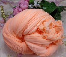 1.5m  Shallow orange Silk Flower/Nylon Flower Stocking Making Diy Accessories For DIY 004008002.6