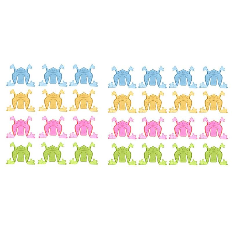 12/50pcs Children Classic Jumping Frog Funny Finger Press Moving Animal Plastic Classic Toys Kids Party Gag Toys Gift