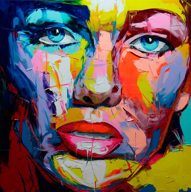 Knife Abstract Face Painting by Francoise Nielly Designer