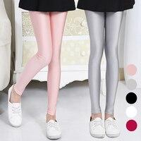 Kids Girls Spring Summer Children Leggings Korean Fashion Pants Boy Baby Slim Trousers Gloss