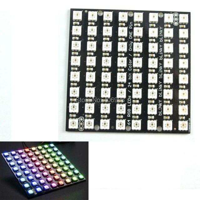 8x8 64 LED Matrix WS2812 LED 5050 RGB for Arduino FZ1104