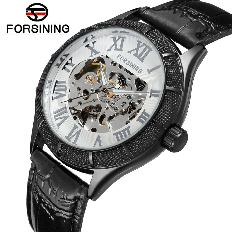 купить  FORSINING 2017 New Casual Watch Men's Skeleton Auto Mechanical Watches Wristwatch   Gift Free Ship